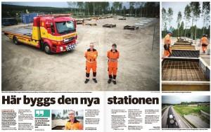 Artikel i tidningen Mitt Dalarna om den nya räddningsstationen mellan Falun och Borlänge.