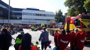 Assistancekårens bärgningsbil i centrala Borlänge.