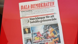 Reportage om unge bilbärgaren Hannes i Dalademokraten.