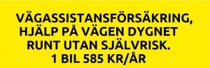 Vägassistansförsäkring Väghjälp från Assistanekåren, information om 585 kr per år.