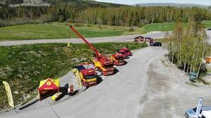 Bild på Assistancekårens bärgningsbilar.